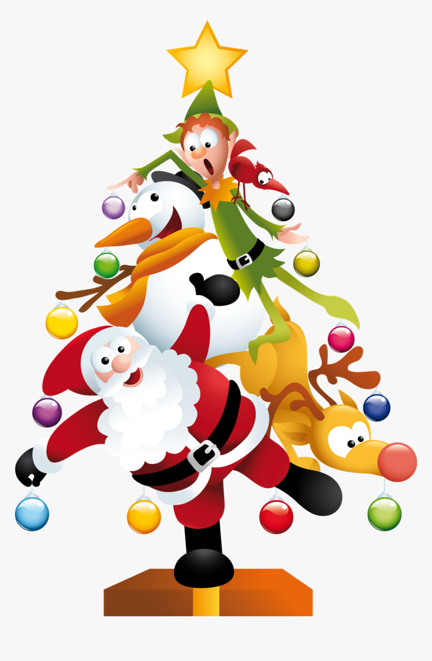 Google Clipart Christmas - Funny Christmas Tree Clipart, HD Png Download, Free Download