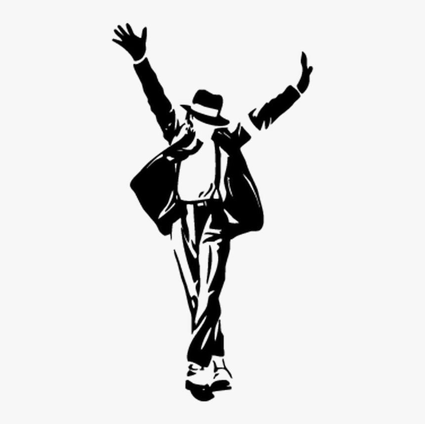 """Michael Jackson""""s Moonwalker Silhouette The Best Of - Black And White Michael Jackson Drawing, HD Png Download, Free Download"""