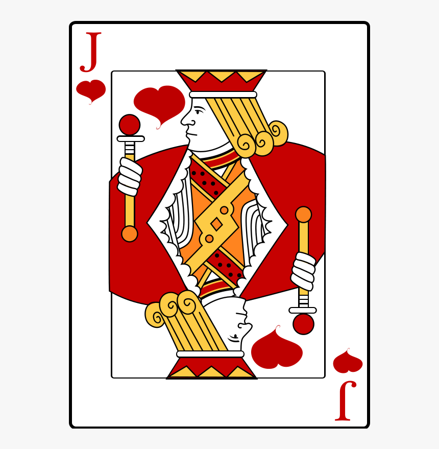 Jack Playing Card - Knave Of Hearts Card, HD Png Download, Free Download