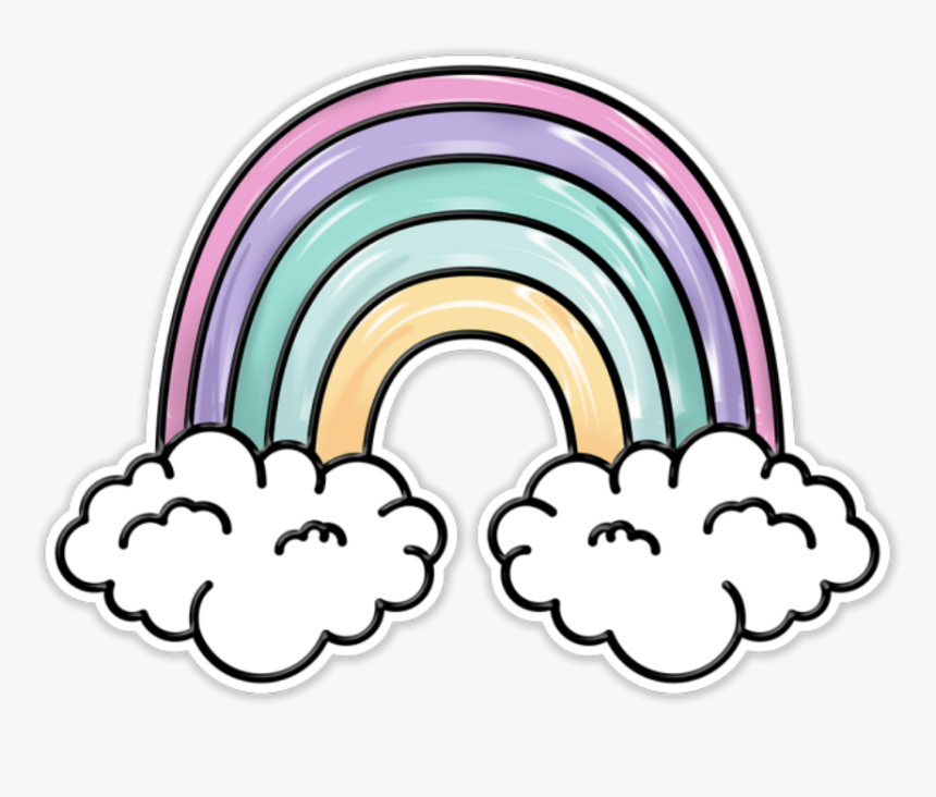 Rainbow Cute Pastel Tumblr Aesthetic Patch - Cute Aesthetic Clip Arts, HD Png Download, Free Download