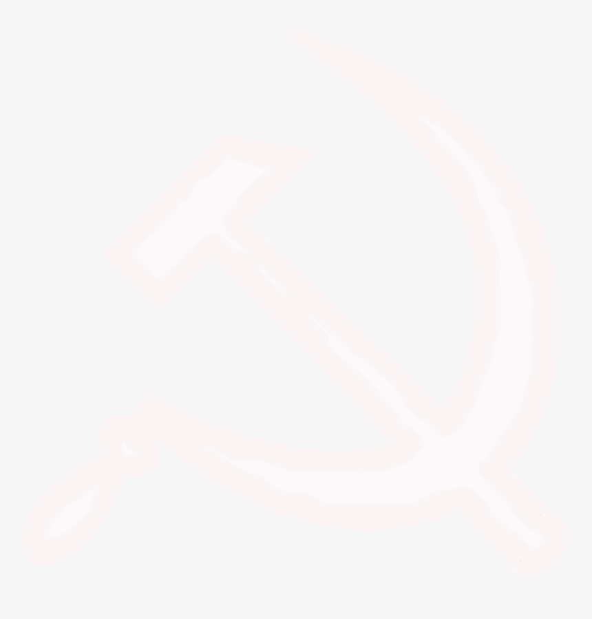 White Hammer And Sickle Svg - White Hammer And Sickle Transparent, HD Png Download, Free Download