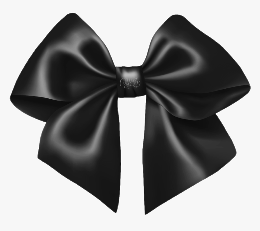 Silk - Black Bow Png, Transparent Png, Free Download