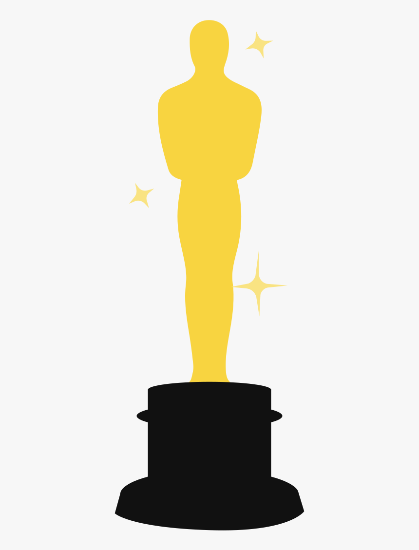 Good Clipart Academic Award - Oscars Trophy Template, HD Png Download, Free Download