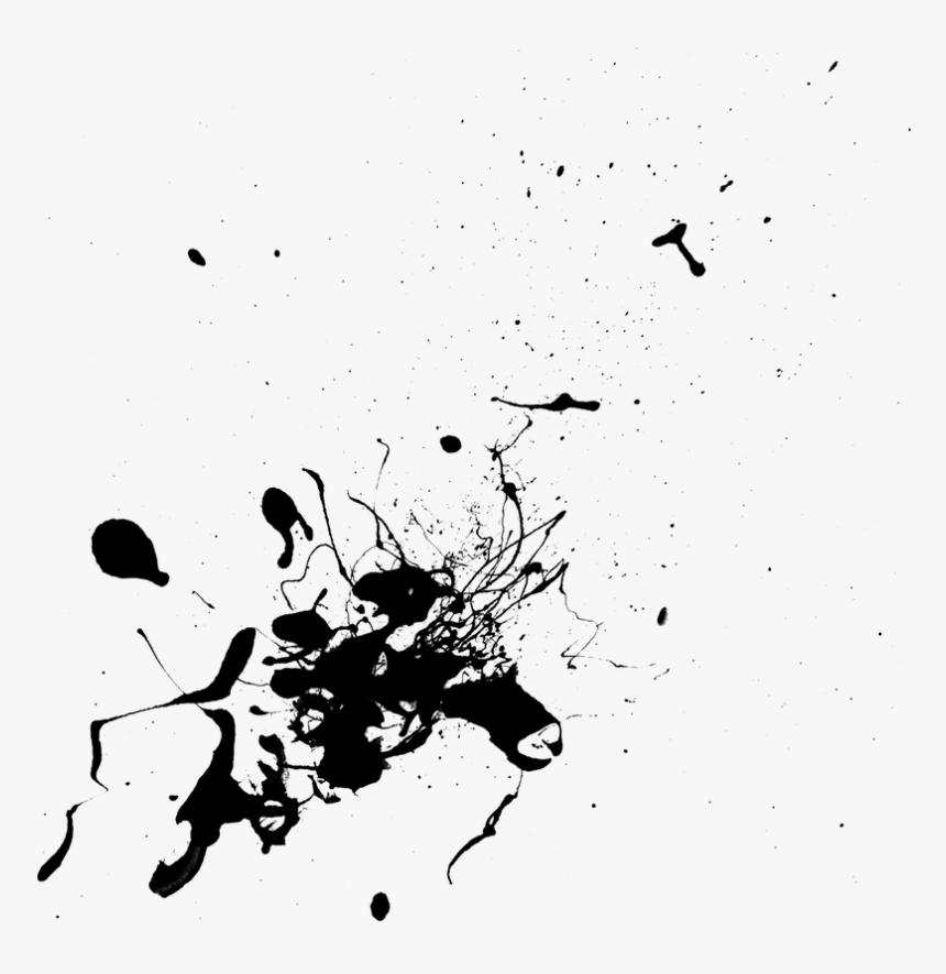 Transparent Black Paint Drips Png - Splash Paint Splatter, Png Download, Free Download