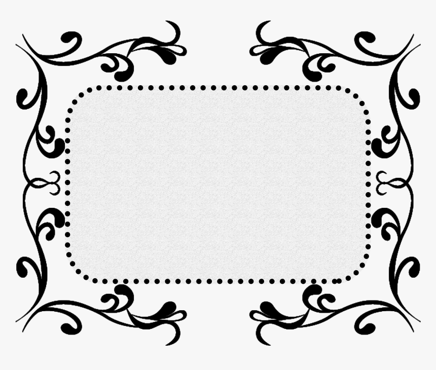 Black Pattern Texture Border Decorative Png And Psd - Border Psd Black And White, Transparent Png, Free Download