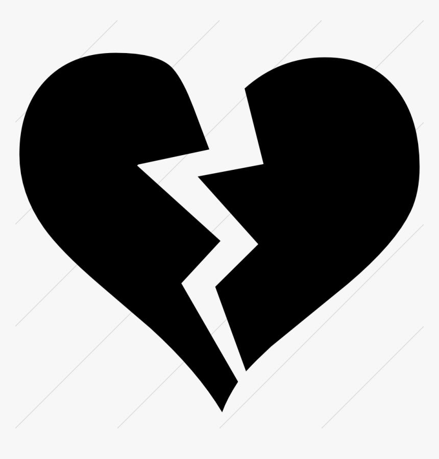Broken Pencil Png -broken Heart Clipart Emoji Pencil - Black Broken Heart Png, Transparent Png, Free Download