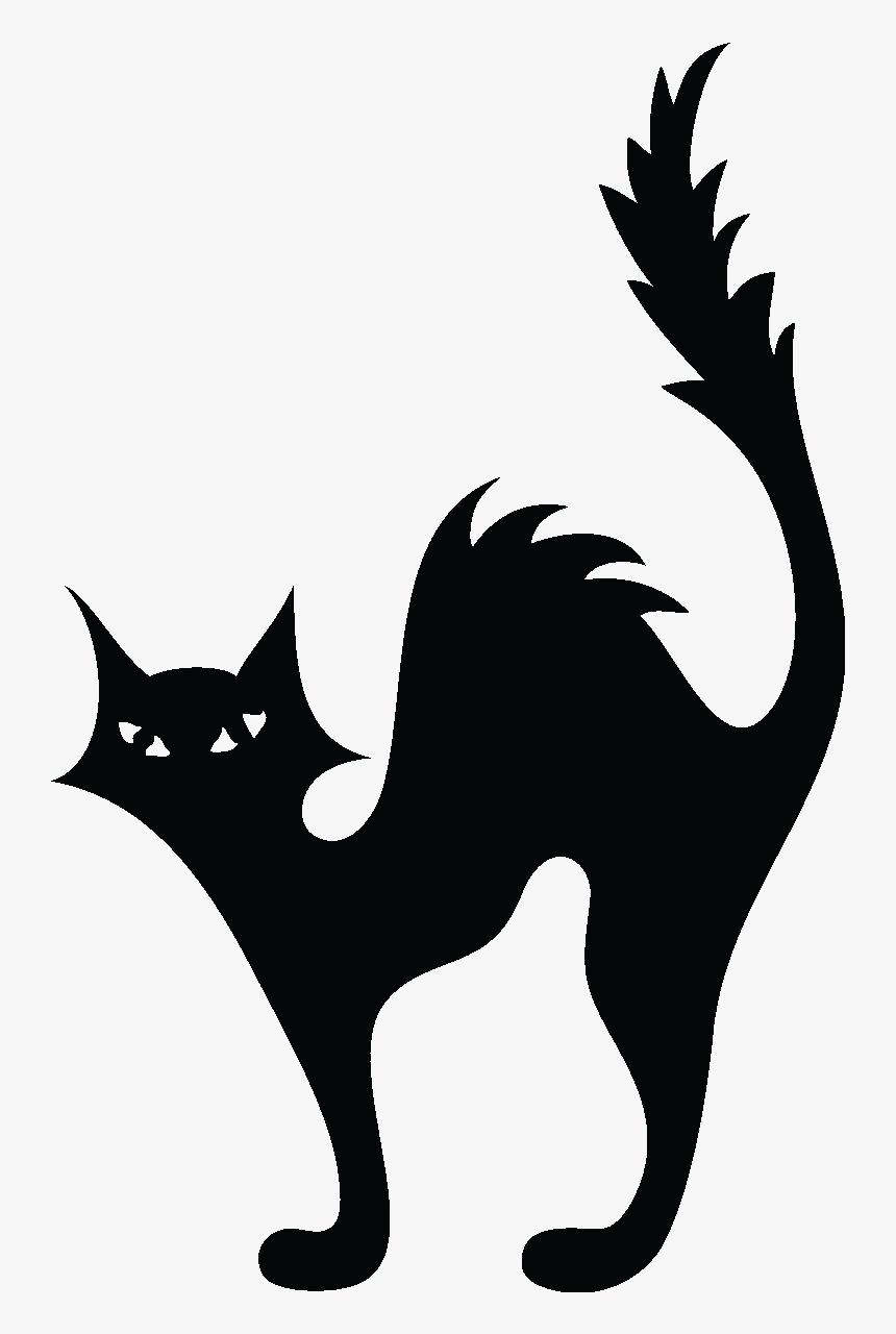 Cat Kitten Halloween Silhouette Clip Art Silhouette Halloween Cat Clipart Hd Png Download Kindpng