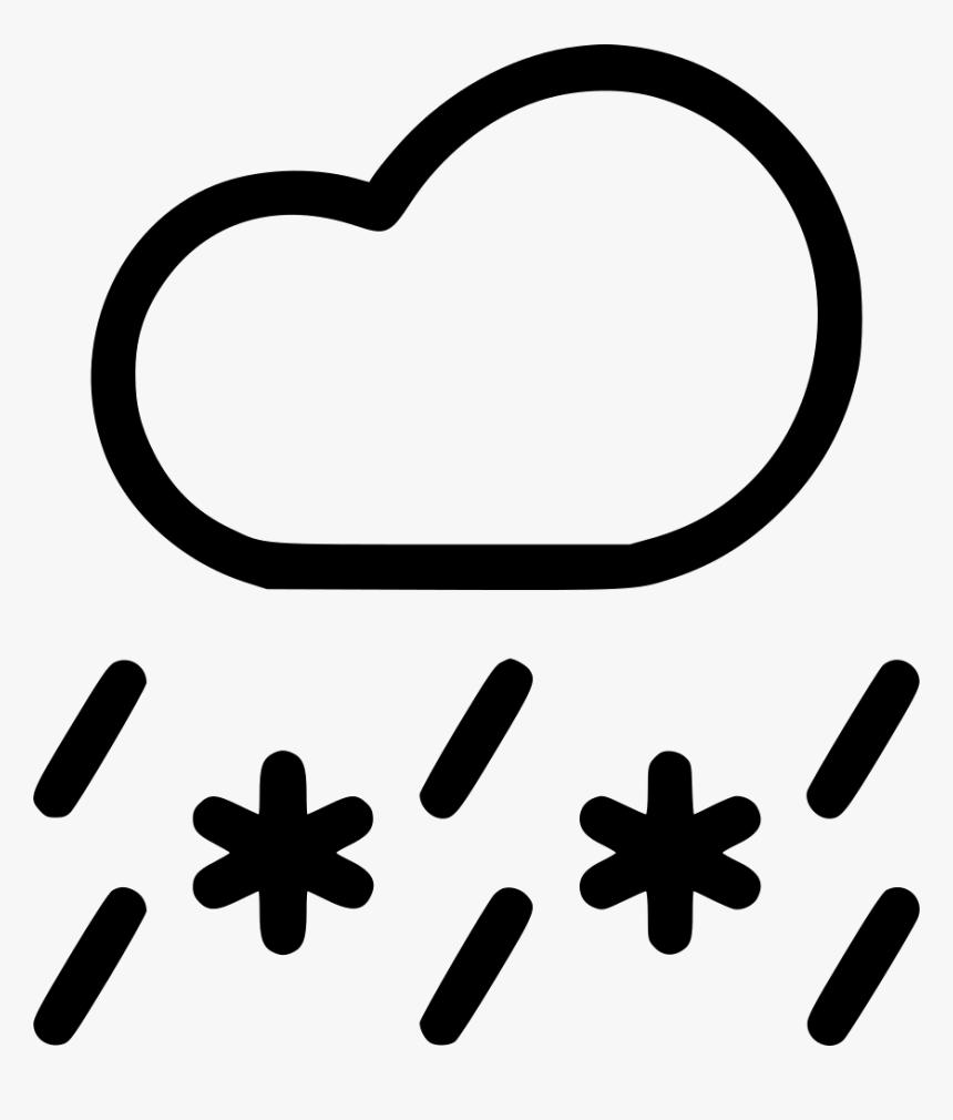 Sleet Snow Rain Cloud Snowfall Weather, HD Png Download, Free Download