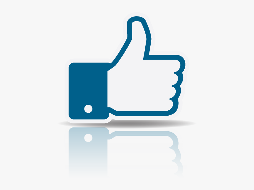 Facebook Thumbs Up Transparent Reflection - Like Do Youtube Png Gif, Png Download, Free Download
