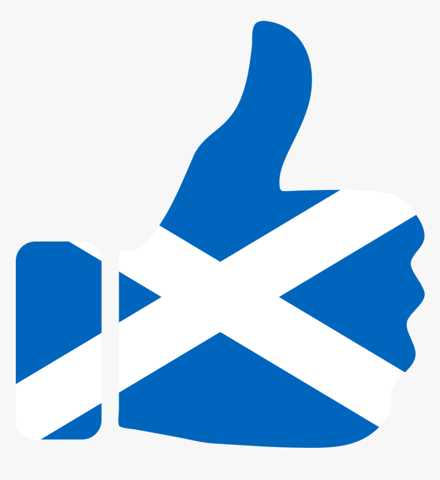 Thumbs Up Scotland - Scotland Flag Thumbs Up, HD Png Download, Free Download