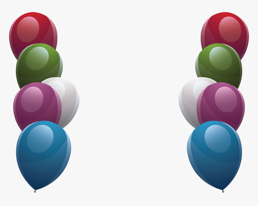 Transparent Colorful Border Clipart Balloons Designs For Borders Hd Png Download Kindpng