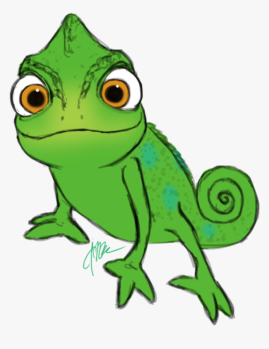 chameleon clipart rapunzel pascal - rapunzel lizard, hd