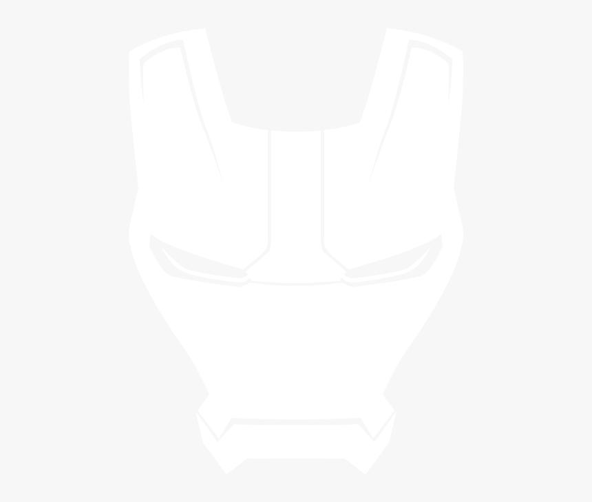 Download Hd Ironman Helmet - Iron Man Helmet White Drawing, HD Png Download, Free Download