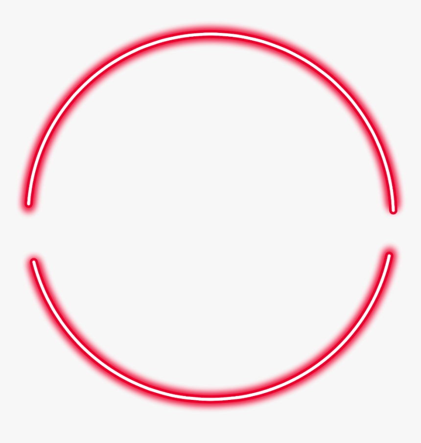 #neon #round #red #freetoedit #circle #frame #border - Circle, HD Png Download, Free Download