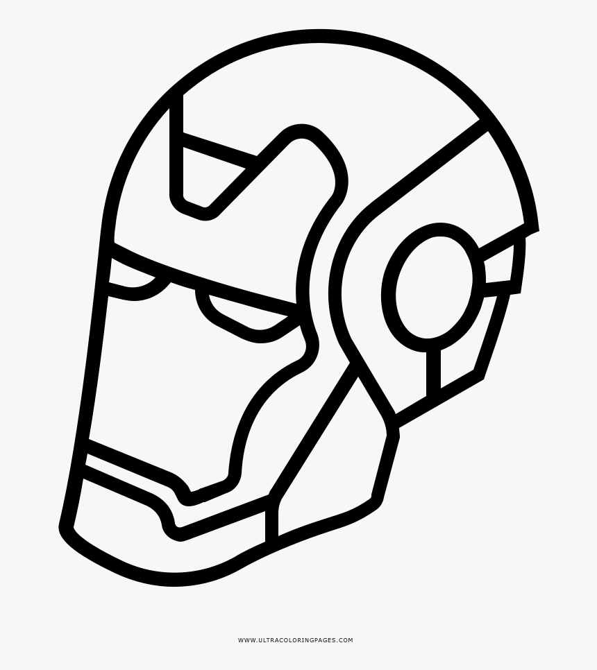Iron Man Mask Coloring Page Ironman Blanco Y Negro Hd Png Download Kindpng