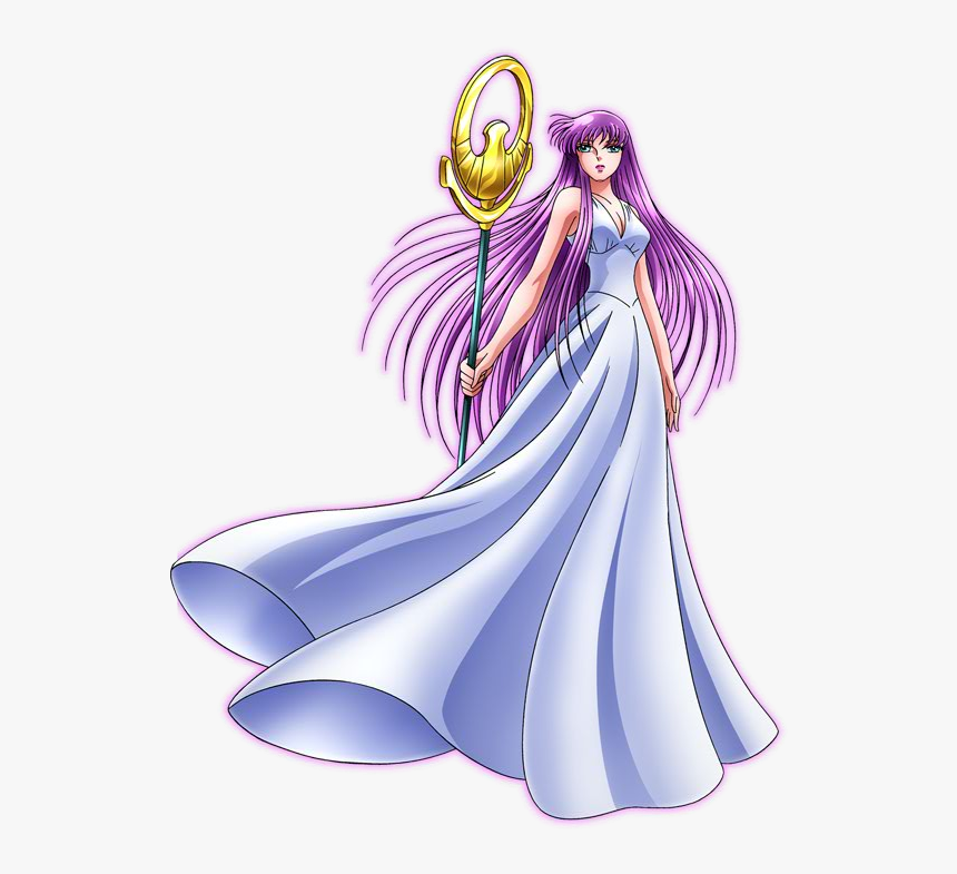 Saint Seiya Saori Kido , Png Download - Atenea Caballeros Del Zodiaco, Transparent Png, Free Download
