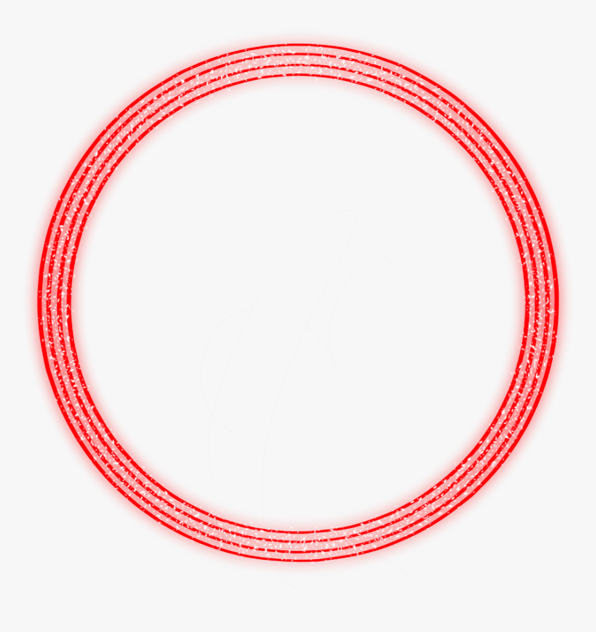 #neon #round#red #freetoedit #circle #frame #border - Converse All Star, HD Png Download, Free Download