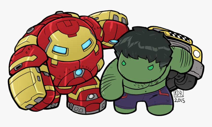 Lil Hulkbuster V Hulk - Iron Man Hulkbuster Chibi, HD Png Download, Free Download