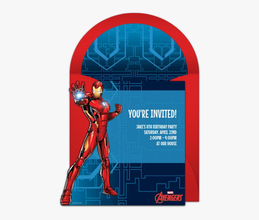 Iron Man Design Invitation, HD Png Download, Free Download