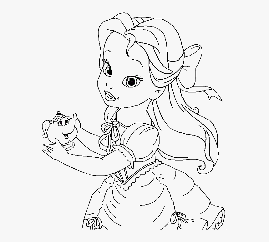 Belle Coloring Pages Little Belle Coloring For Kids Baby