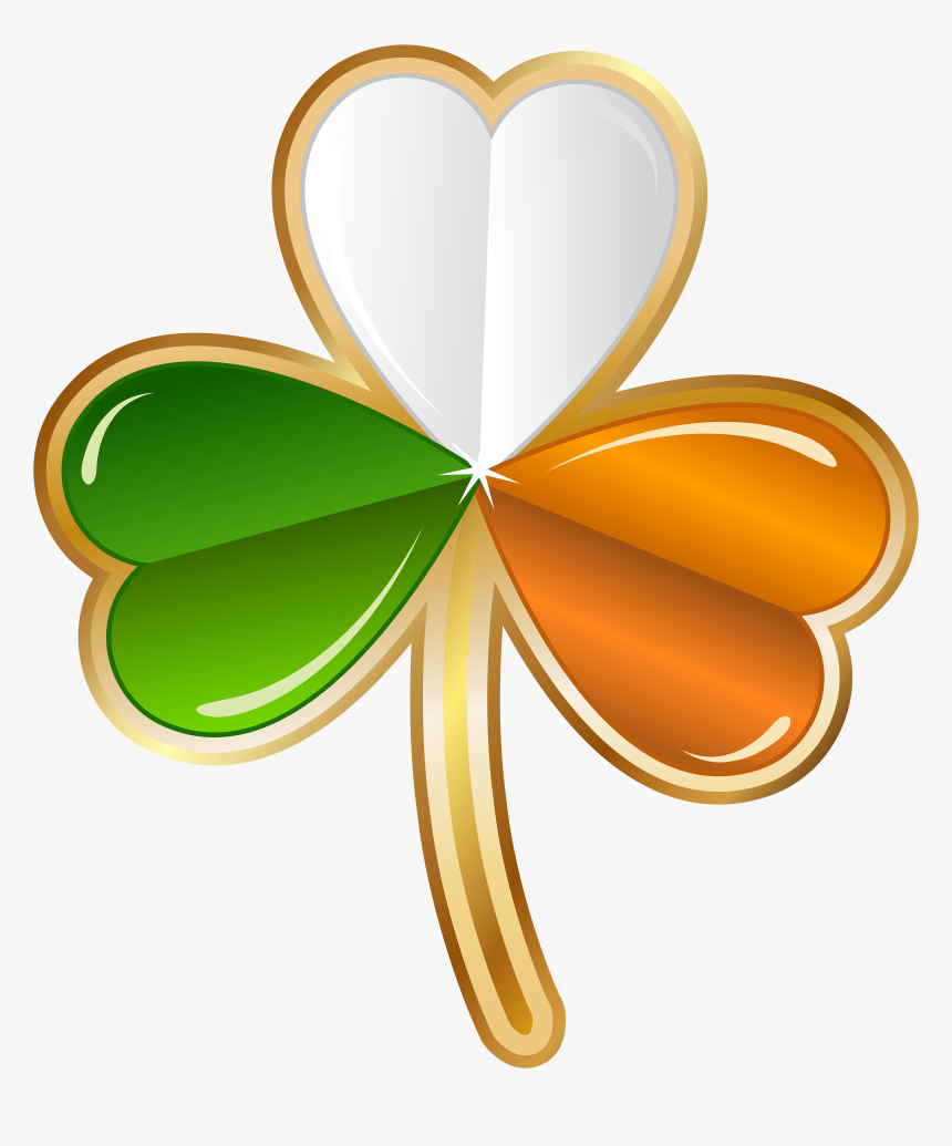 """Saint Patrick""""s Day Clip Transparent - St Patrick's Day Ireland Clover, HD Png Download, Free Download"""