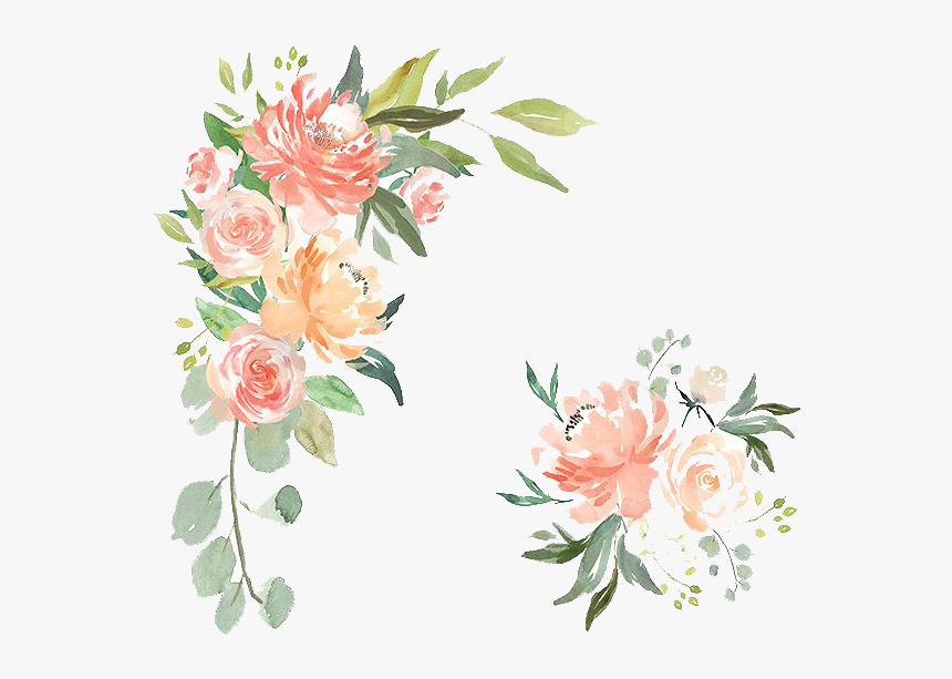 Free Watercolor Flower Texture - Peach Watercolor Flower Png, Transparent Png, Free Download