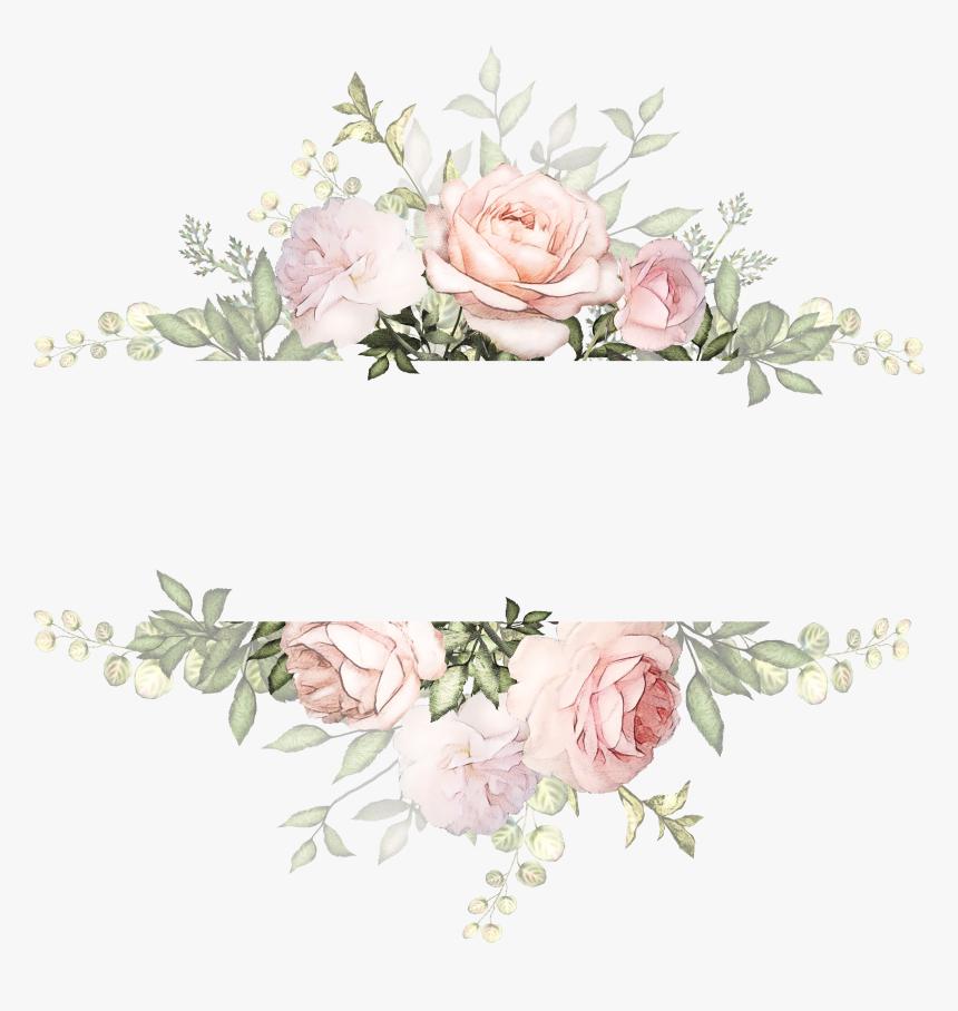 Vintage Watercolor Flowers Background , Png Download - Transparent Background Floral Wreath, Png Download, Free Download