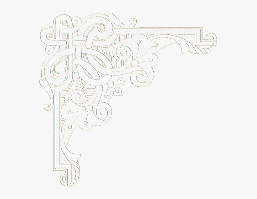 Transparent White Lace Background Png - White Lace Corner Border, Png Download, Free Download