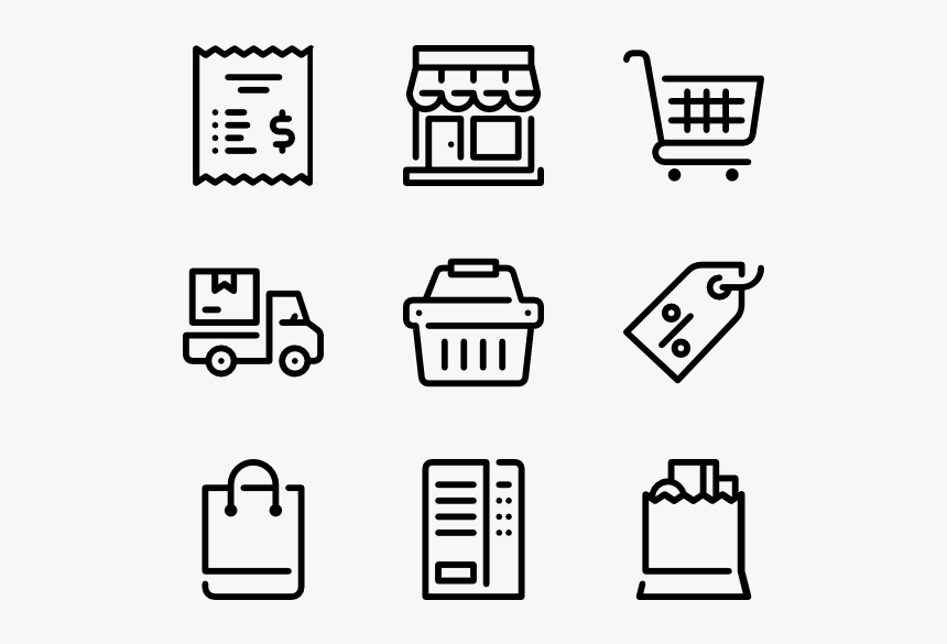 Retail - Printing Icons, HD Png Download, Free Download