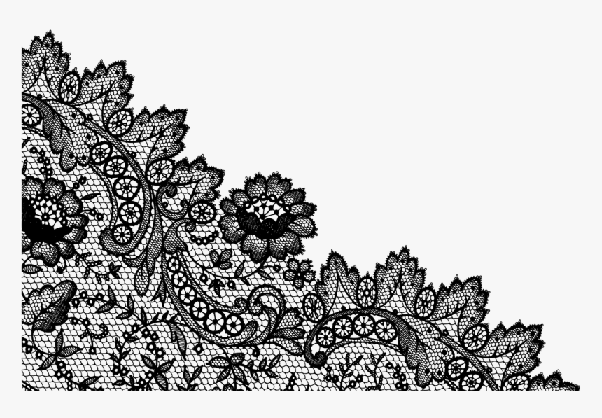 Lineart Lace Pattern - Illustration, HD Png Download, Free Download