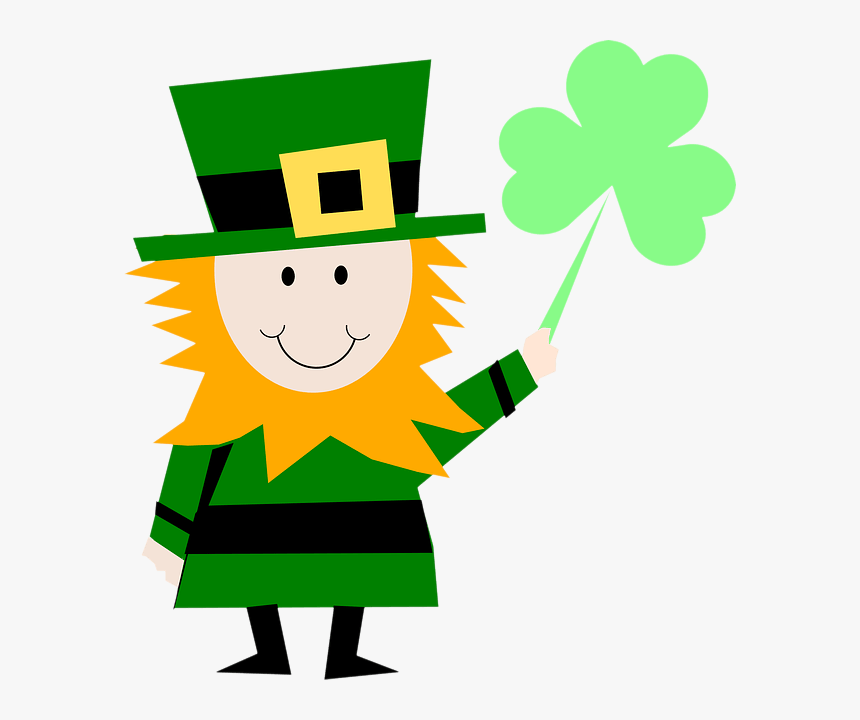 Leprechaun With Shamrock - Saint Patrick Clip Art, HD Png Download, Free Download
