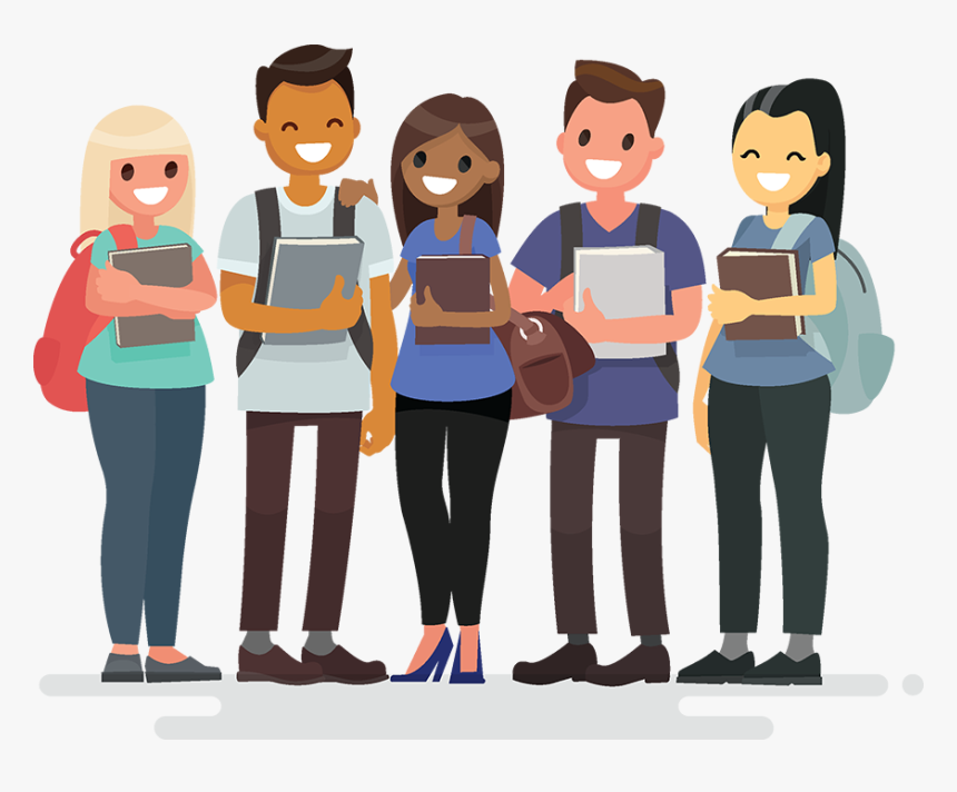 Transparent Group Of Students Png - College Student Cartoon Png, Png Download, Free Download