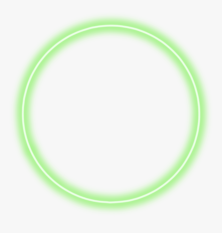 #color #neon #round #circle #green #glow #freetoedit - Green Neon Circle Png, Transparent Png, Free Download