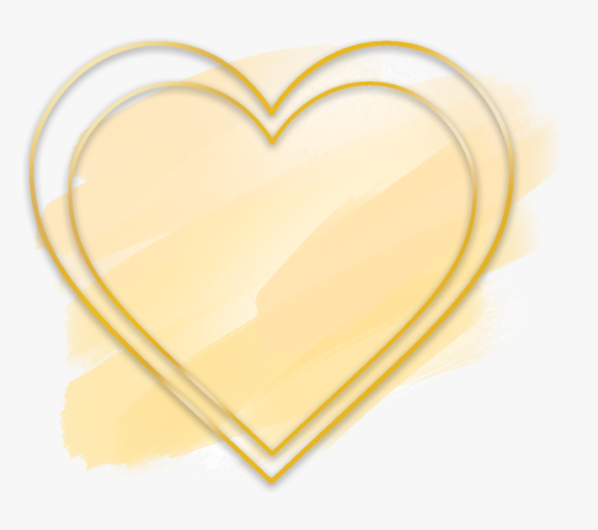 #love #heart #gold #brush #glitter #watercolor #geometric - Gold Heart Geometric Png, Transparent Png, Free Download