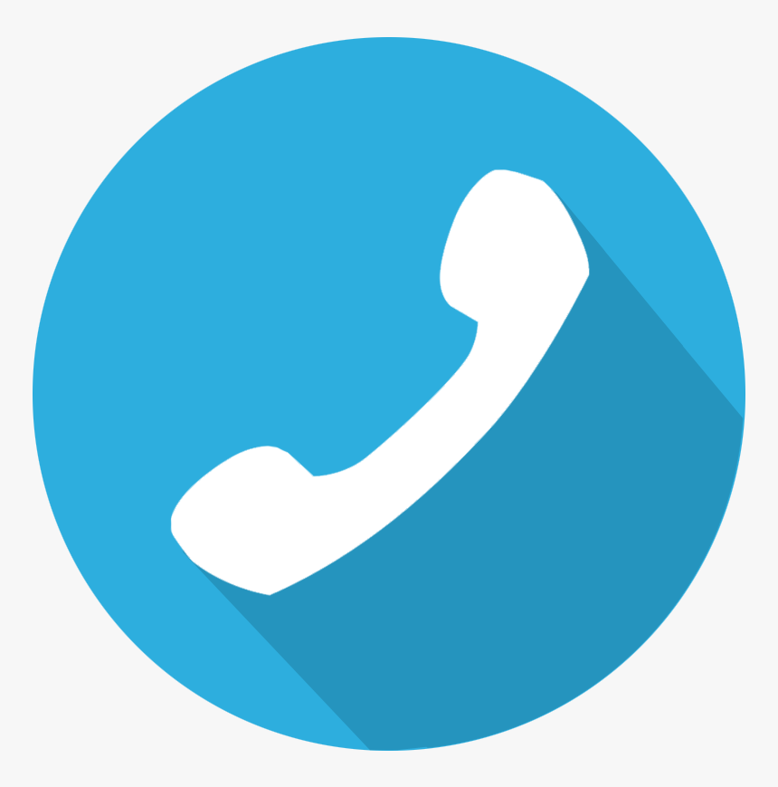Blue Phone Icon Png, Transparent Png - kindpng