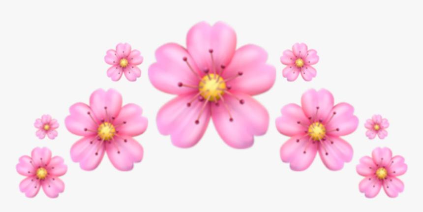 #emoji #crown #pink #flower #corona #emoji #flor #rosa - Iphone Flower Emoji Png, Transparent Png, Free Download