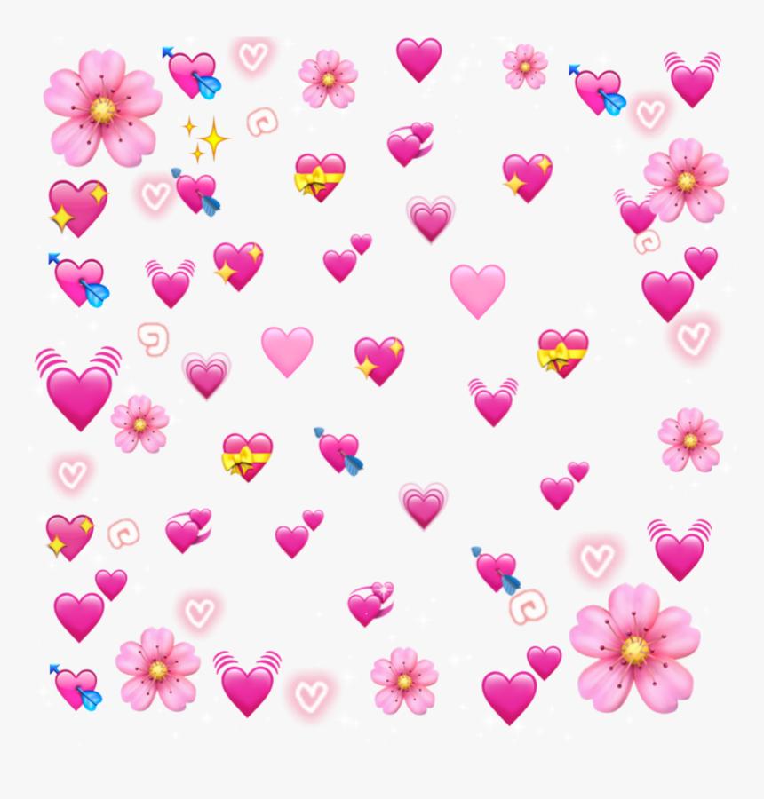 #heart #pink #stars #flower #tumblr #hearts #emoji - Heart Emoji Meme Png, Transparent Png, Free Download