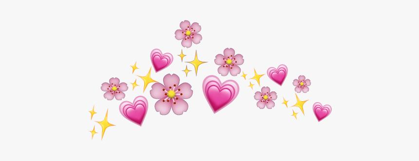 #flowercrown #emojicrown #iphone #emoji #pink #flower - Blue Crown Picsart, HD Png Download, Free Download