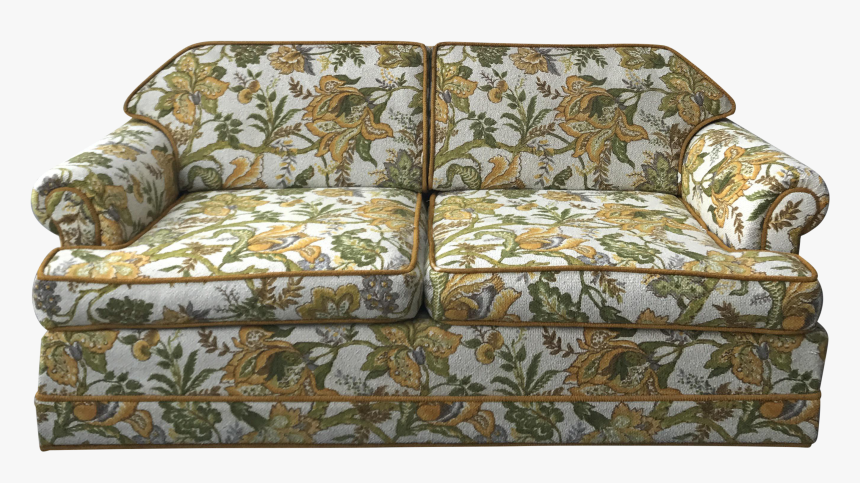 Transparent Sofa Png - Mid Century Sofa Vintage Floral, Png Download, Free Download