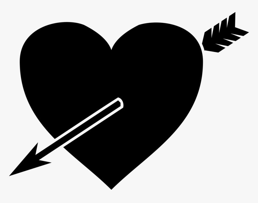 Coração Com Flecha Png Clipart , Png Download - Mui Ten Xuyen Tim, Transparent Png, Free Download