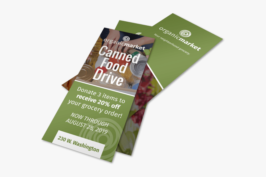 Canned Food Drive Flyer Template Preview - Flyer, HD Png Download, Free Download