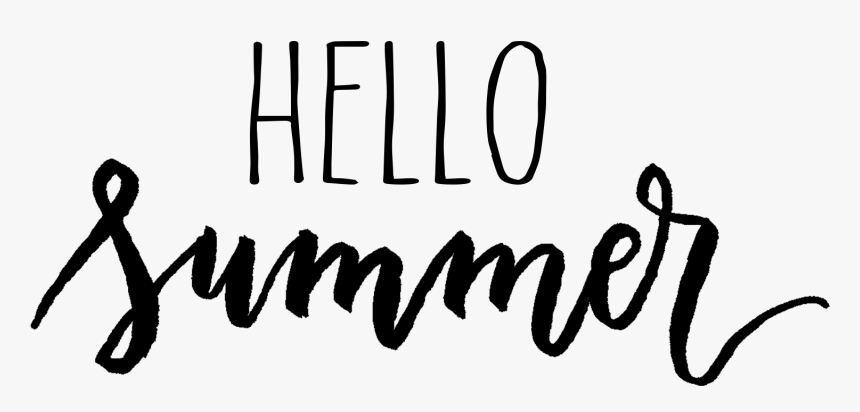 Hello Summer - Hello Summer Text Png, Transparent Png, Free Download