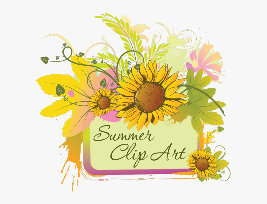 Summer Clip Art Of June July And August Graphics - Clip Art Summer August, HD Png Download, Free Download