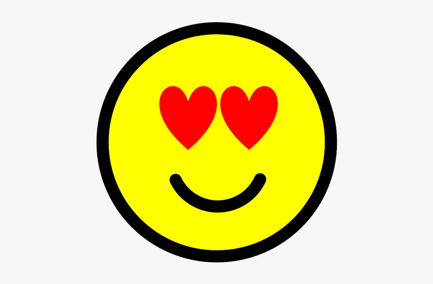 Emoji, Emoticon, Icon, Love, Heart, Happy, Enjoy - Happy Black And White Heart Smiley Love Dikhao, HD Png Download, Free Download