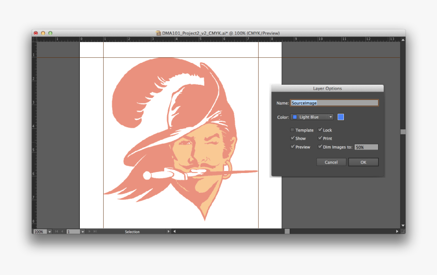 Dimming The Source Image In Illustrator So I Can Easily - Vintage Tampa Bay Buccaneers Logo, HD Png Download, Free Download