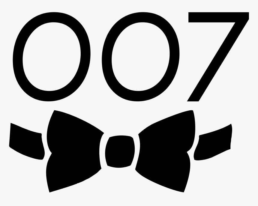 James Bond Clipart Oo7 - James Bond Clipart, HD Png Download, Free Download
