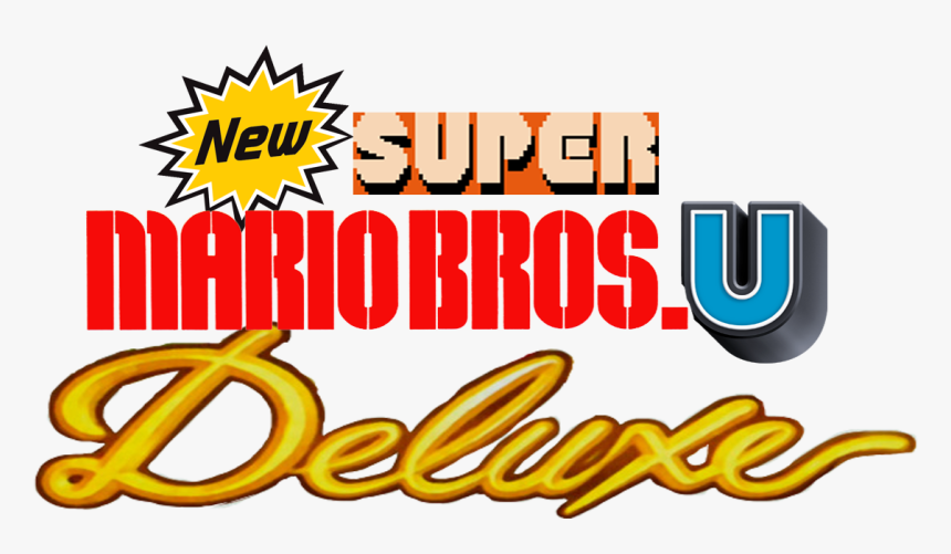 New Super Mario Bros U Deluxe Logo Hd Png Download Kindpng