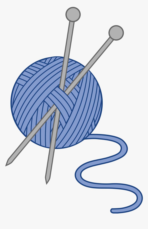 83 839509 clip art blue yarn and needles knitting needles