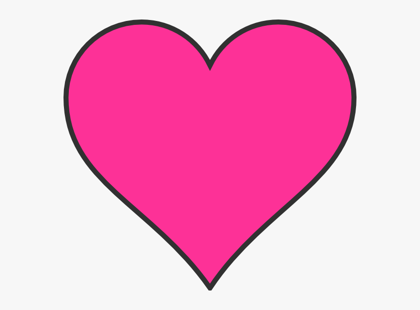 Free Love Heart Download - Pink Heart Clip Art, HD Png Download, Free Download
