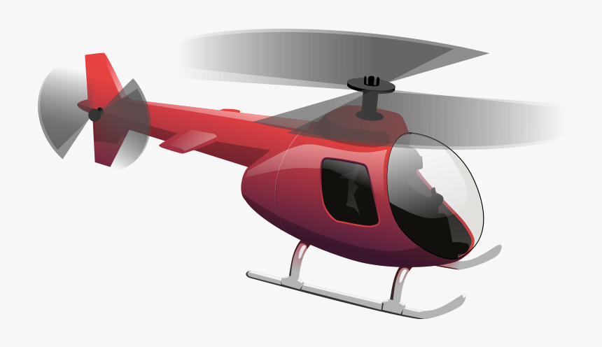 Red Helicopter Clipart , Transparent Cartoons - Helicopter Clipart Transparent, HD Png Download, Free Download